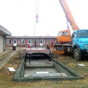نصب مکانیک باسکول جاده ای ۶۰ تنی تریلی کش در استان آذربایجان غربی شهرستان نقده